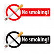 The sign no smoking — Stock Vector