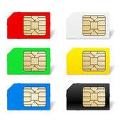 Sim card set — Stock Vector