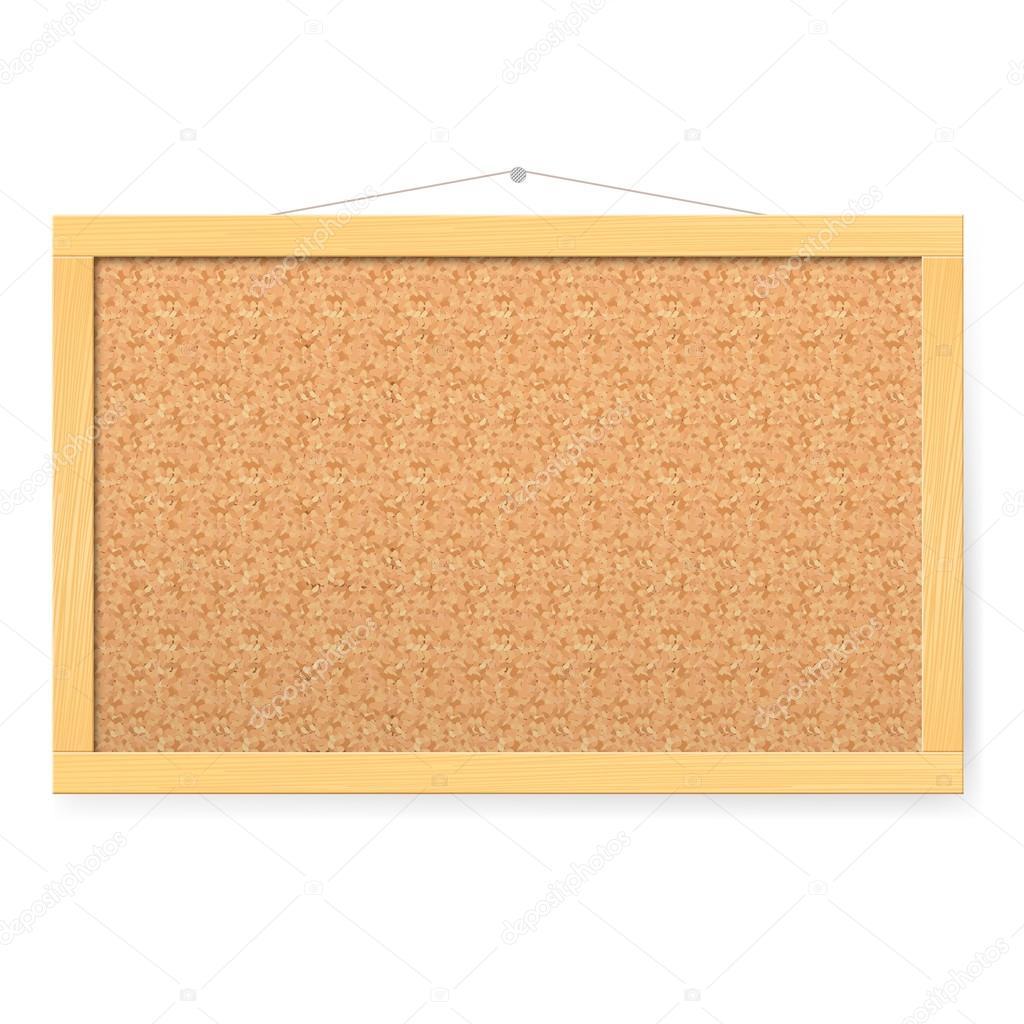 Corkboard realista en blanco con textura de pizarra de corcho vector stock dvargg 17605653 - Pizarra corcho ...
