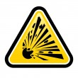 Stock Vector: Explosive Hazard Sign