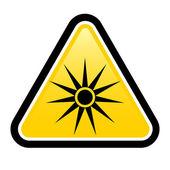Safety signs warning triangle sign vector pictogram BGV A8 Icon laser beam laser weapon — Stock Vector