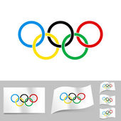 Olympic Rings — Stock Vector