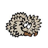 Funny cartoon hedgehog. Illustration on white background — ストックベクタ