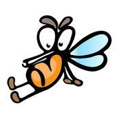 Cartoon mosquito — Stock Vector