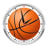 De klok van de muur van de sport — Stockvector