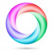 Colorful spiral ring — Stock Vector