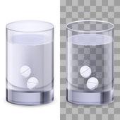 杯水和丸 — 图库矢量图片