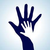 Aiutando mani — Vettoriale Stock