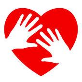 руки и сердца — Cтоковый вектор