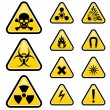 Signs of danger — Stock Vector
