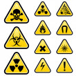Stock Vector: Signs of danger