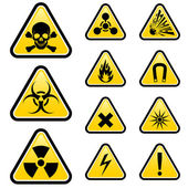 Tehlike işaretleri — Stok Vektör