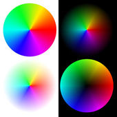 Wheels in Rainbow Colors — Stock Vector