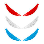 Abstract colorful wings — Stockvektor