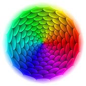 Ilustrace střešní dlaždice vzorku. abstraktní design ve tvaru spektra a kruh na bílém pozadí. — Stock vektor