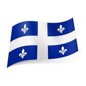 魁北克的旗子 — 图库矢量图片