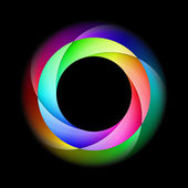 Colorful spiral ring. — Vettoriale Stock