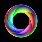 Colorful spiral ring. — Vecteur