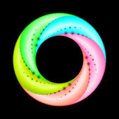 Colorful spiral ring. — Stock Vector