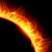 Solar corona. — Stock Vector