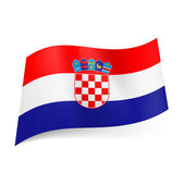 State flag of Croatia. — Stock Vector