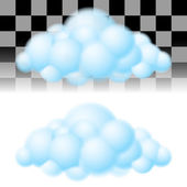 Two clouds. — Stock Vector