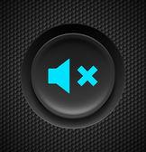 Mute button. — Stock Vector
