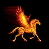 Fire Pegasus. — Stock Vector