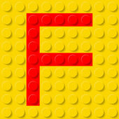 Letter F in construction kit. — 图库矢量图片