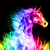 Colorful fire horse. — Stock Vector