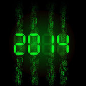Digital 2014 numerals. — Stockvektor