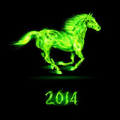 New Year 2014: fire horse. — Vetorial Stock