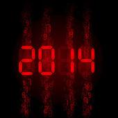 Digital 2014 numerals. — Stock Vector