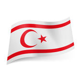 State flag of Northern Cyprus — Stock Vector