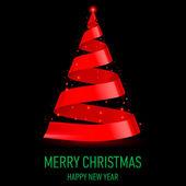 Stuha vánoční strom. — Stock vektor