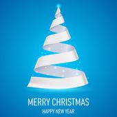 功能区的圣诞树. — 图库矢量图片