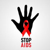 Stop AIDS sign. — Stock Vector