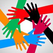 Hands of friendship. — Stock Vector