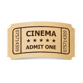 Cinema ticket. — Stock Vector