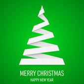 Noel ağacı origami tarzı. — Stok Vektör