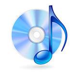 Ikona muzyki. — Wektor stockowy