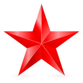 Red star. — Stock Vector