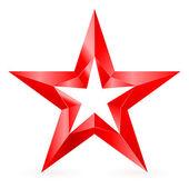 Stella rossa. — Vettoriale Stock