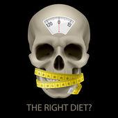 Sağlıksız beslenme. — Stok Vektör