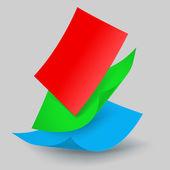 Queda de folhas de papel — Vetorial Stock