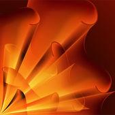 Background of orange flags — Stock Vector