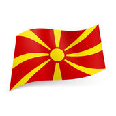 State flag of Macedonia — Stock Vector