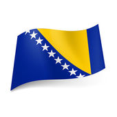 State flag of Bosnia and Herzegovina — Stock Vector
