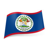 State flag of Belize — Stock Vector