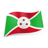 State flag of Burundi — Stock Photo